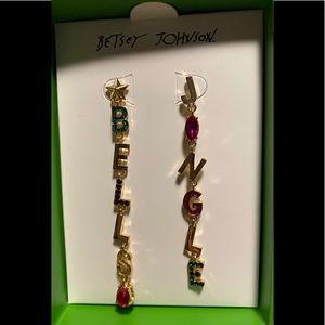 Betsey Johnson Jingle Bells  Mismatched Earrings